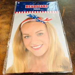 Patriotic Headscarf NWT